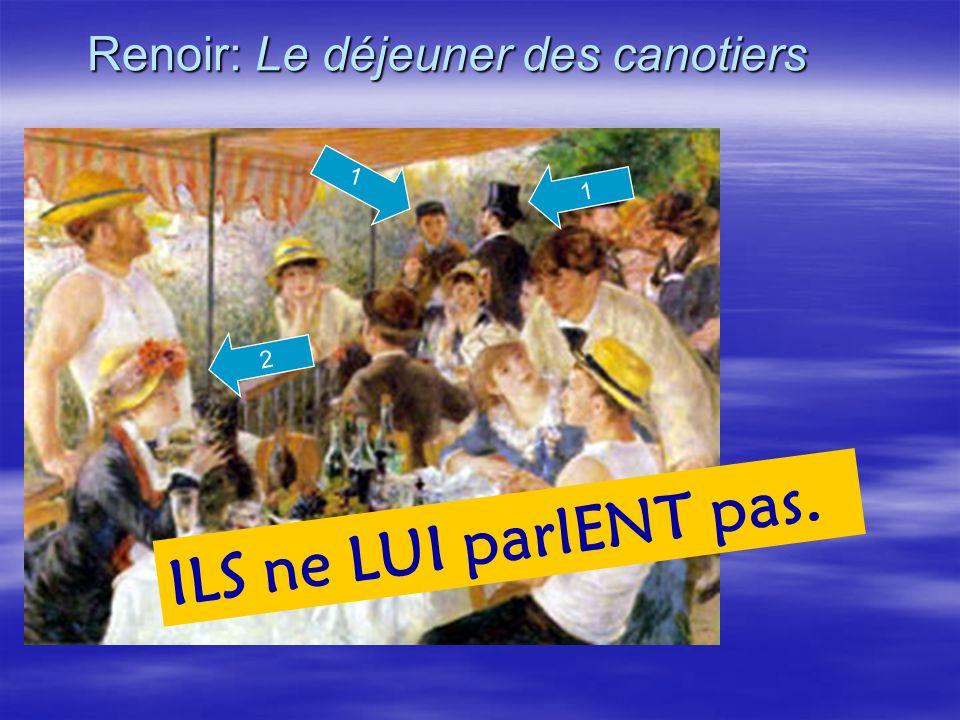 Renoir: Le déjeuner des canotiers 1 ILS ne LUI parlENT pas. 2 1
