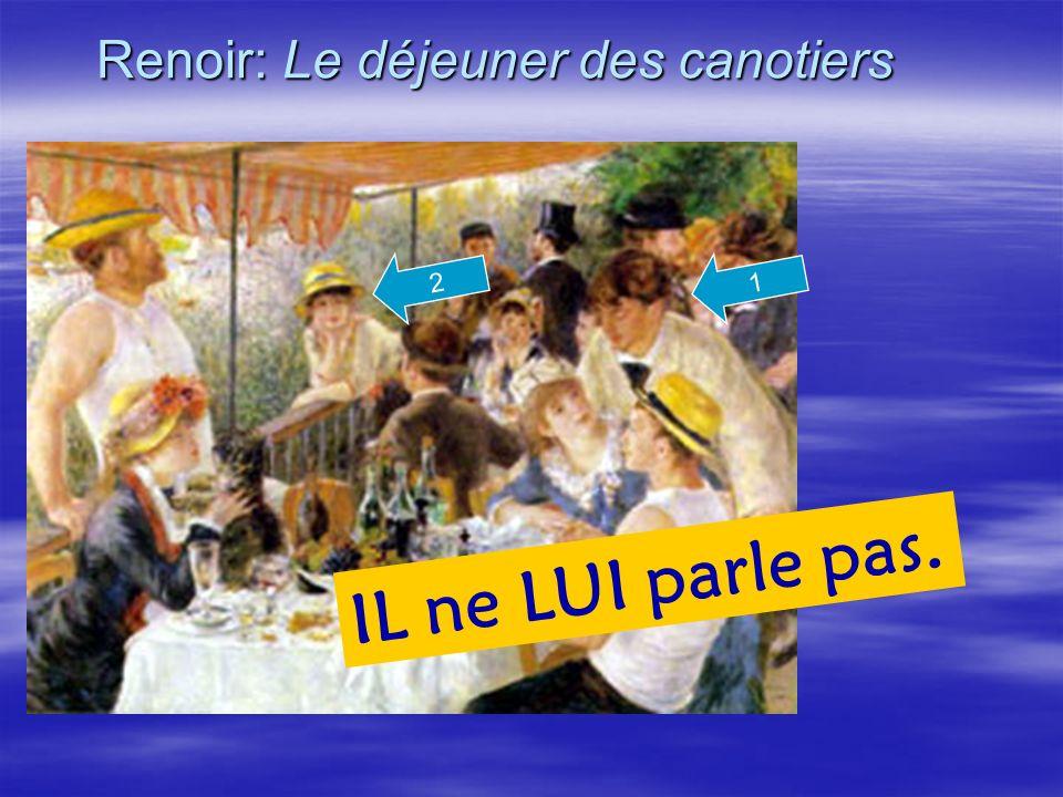 Renoir: Le déjeuner des canotiers 1 IL ne LUI parle pas. 2