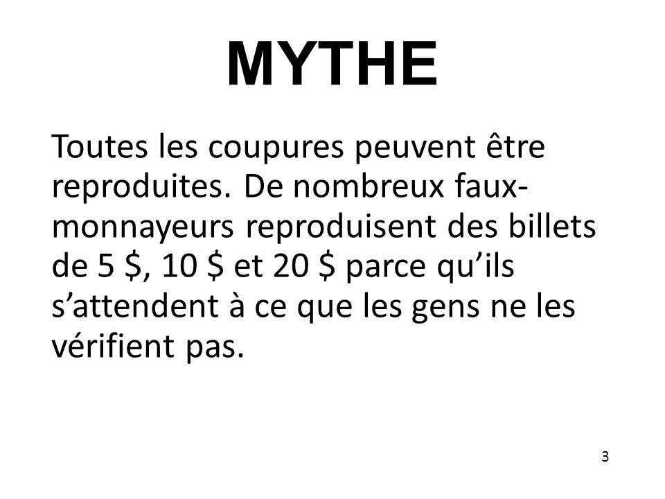 MYTHE Toutes les coupures peuvent être reproduites.