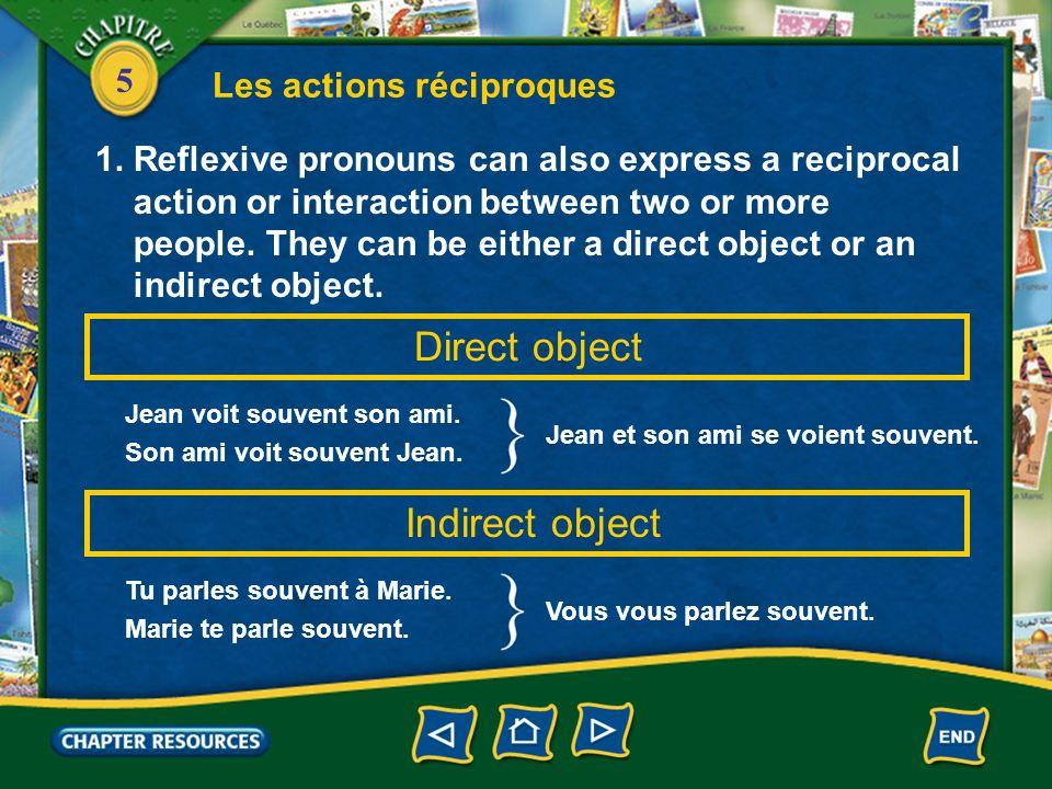 5 Les actions réciproques 1.