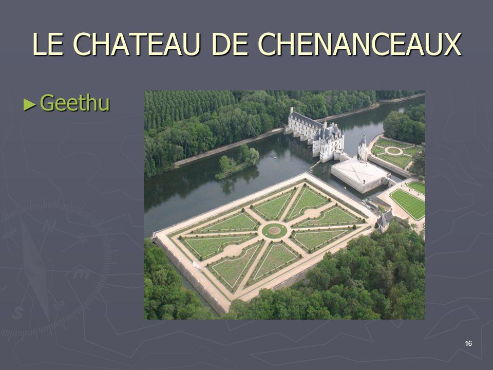16 LE CHATEAU DE CHENANCEAUX Geethu Geethu