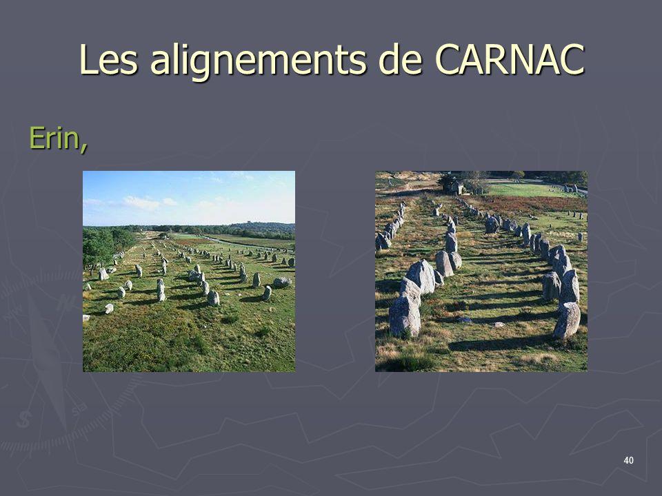 40 Les alignements de CARNAC Erin,