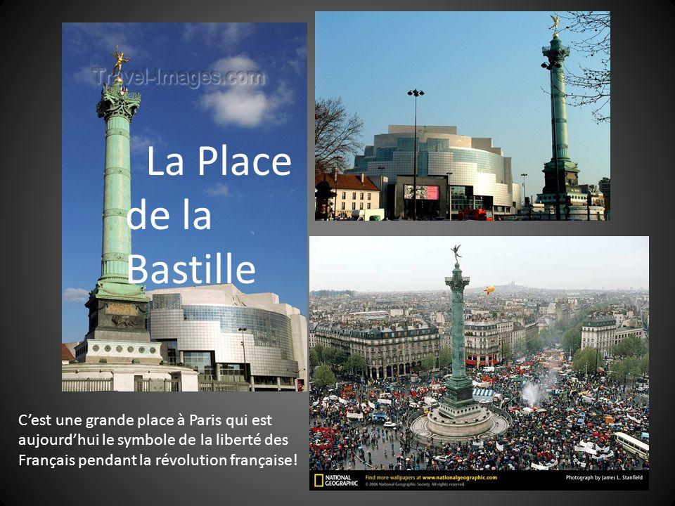 La Place de la Bastille Cest une grande place à Paris qui est aujourdhui le symbole de la liberté des Français pendant la révolution française!