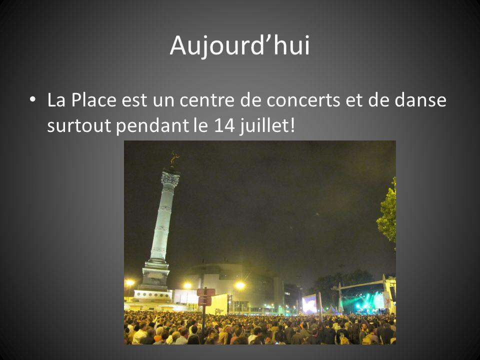 Aujourdhui La Place est un centre de concerts et de danse surtout pendant le 14 juillet!