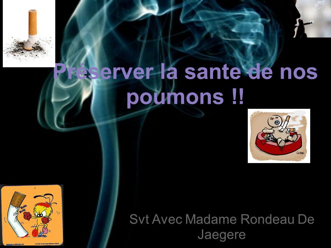 Préserver la sante de nos poumons !! Svt Avec Madame Rondeau De Jaegere