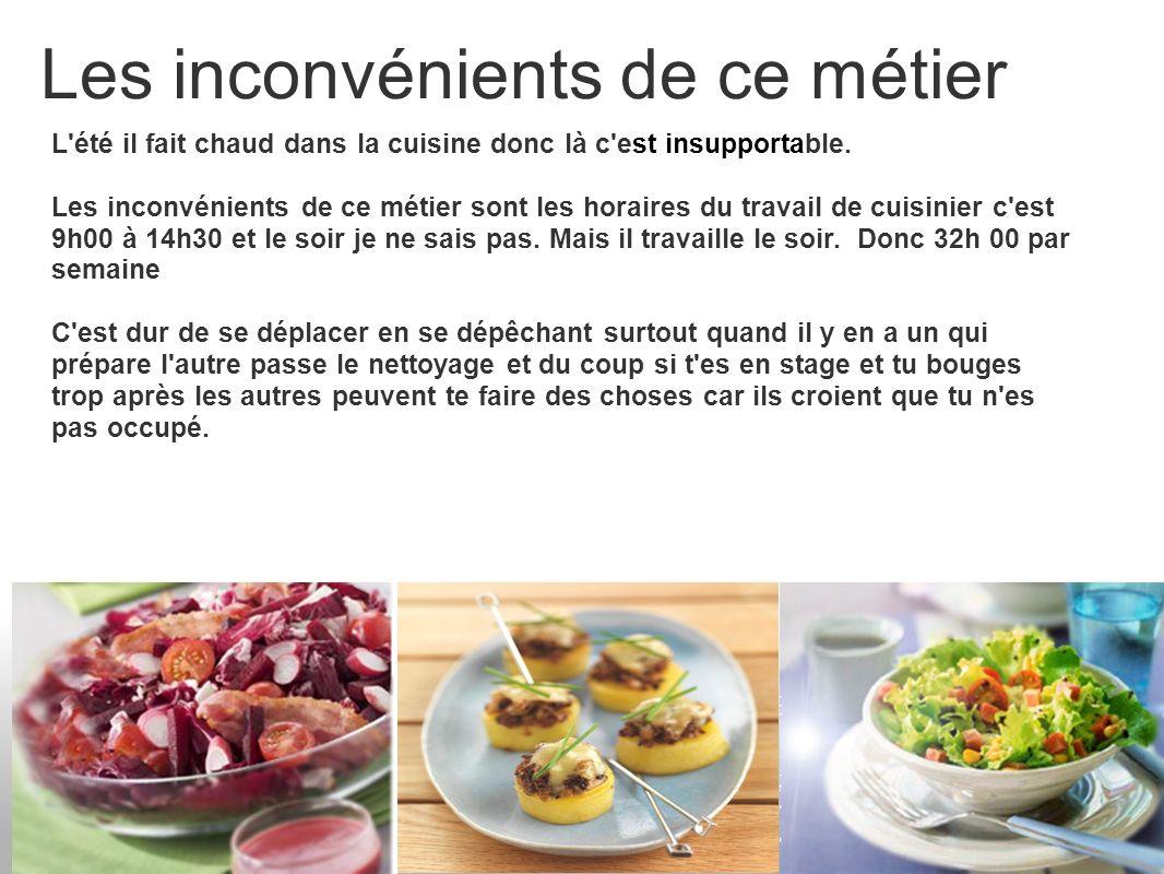 La formation Niveau d accès : CAP/BEP Cuisinier Autre adresse : 26 Rue Chateaubriand BP33348 85340 Olonne sur Mer Cedex Tél.