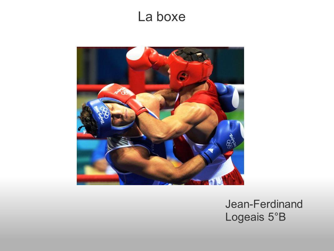 La boxe Jean-Ferdinand Logeais 5°B