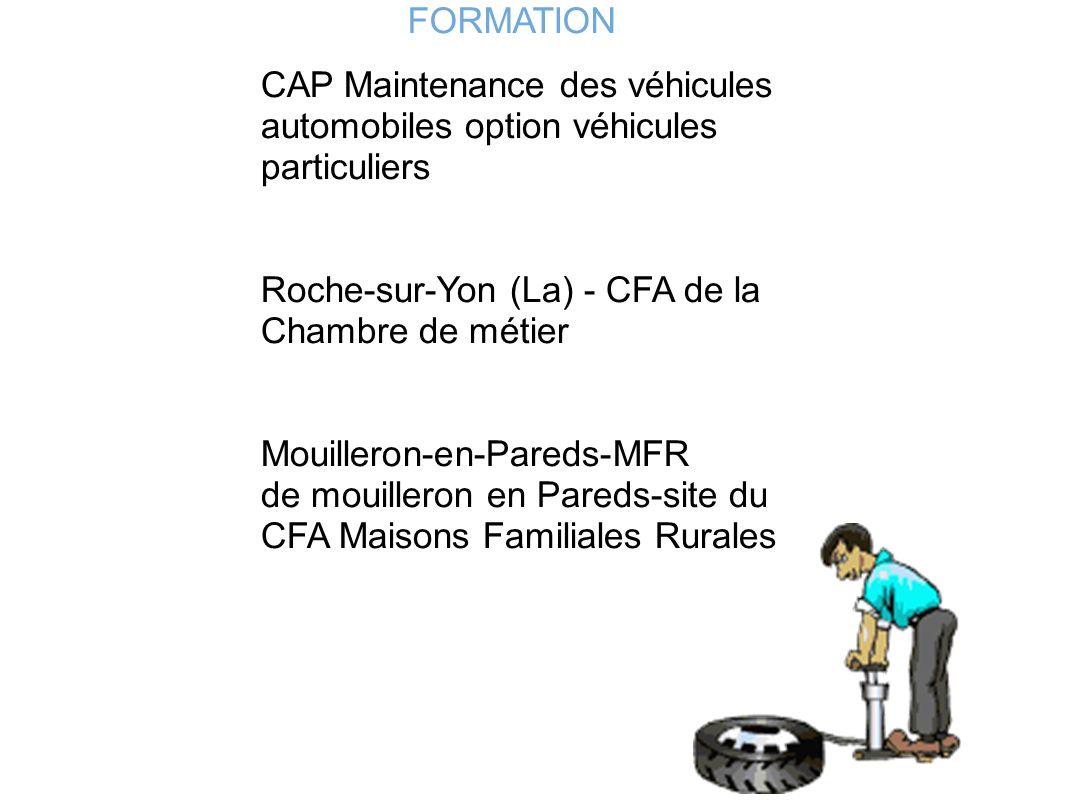 FORMATION CAP Maintenance des véhicules automobiles option véhicules particuliers Roche-sur-Yon (La) - CFA de la Chambre de métier Mouilleron-en-Pared