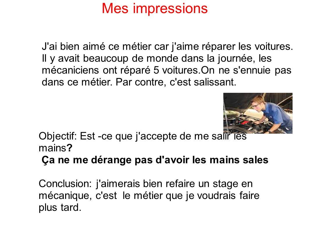 Rapport de stage mecanique automobile  Comptes Rendus  Hautvent59