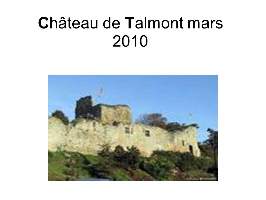 Pourquoi ce château a t-il été construit ici à Talmont .