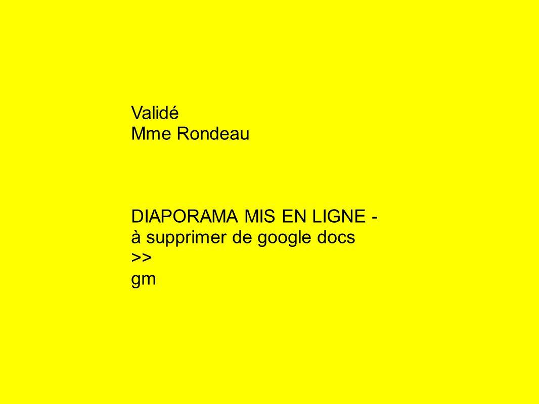 Validé Mme Rondeau DIAPORAMA MIS EN LIGNE - à supprimer de google docs >> gm