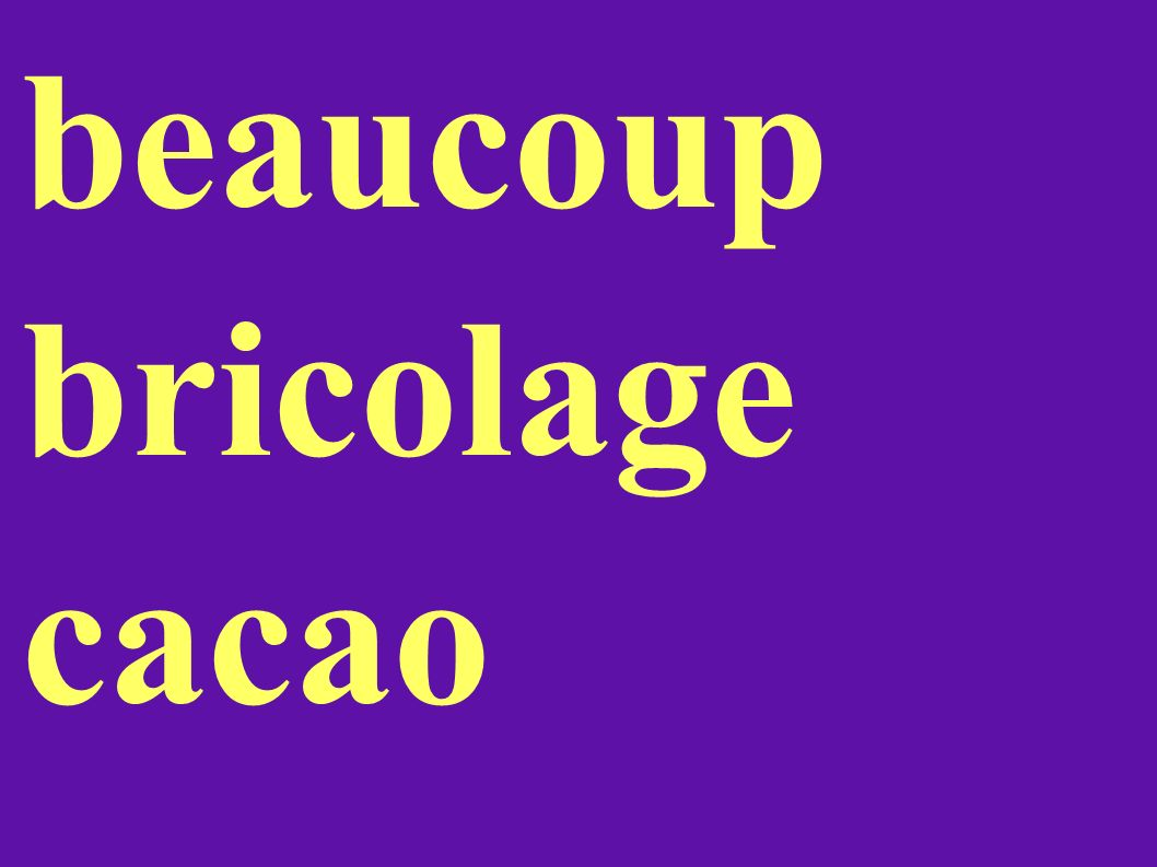 beaucoup bricolage cacao