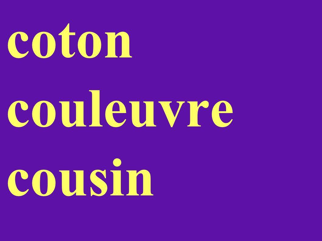 coton couleuvre cousin
