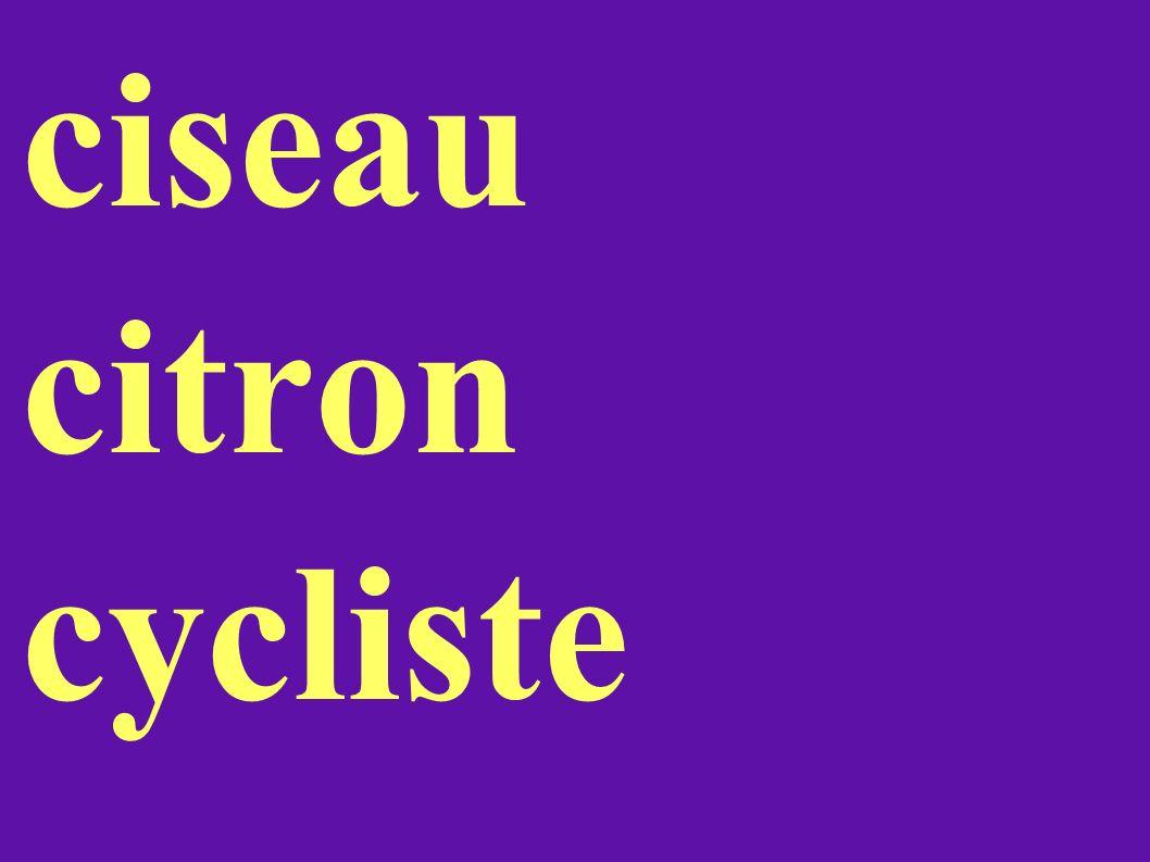 ciseau citron cycliste