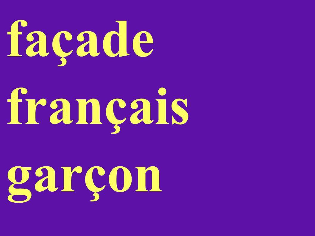 façade français garçon