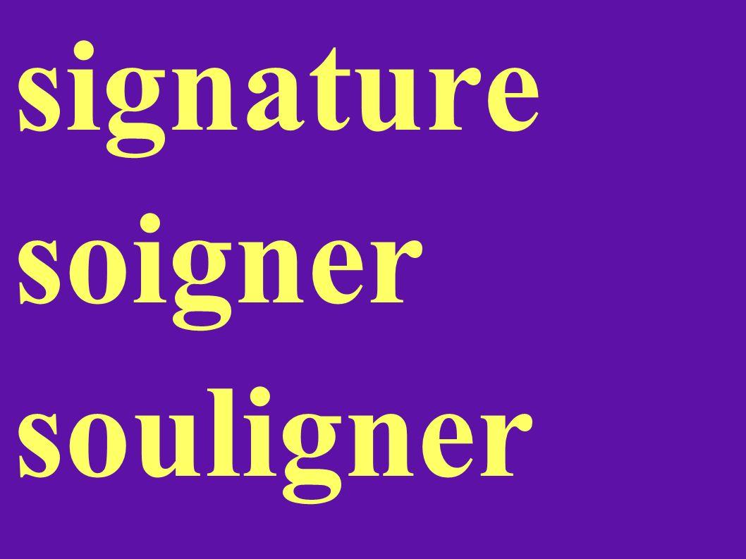 signature soigner souligner