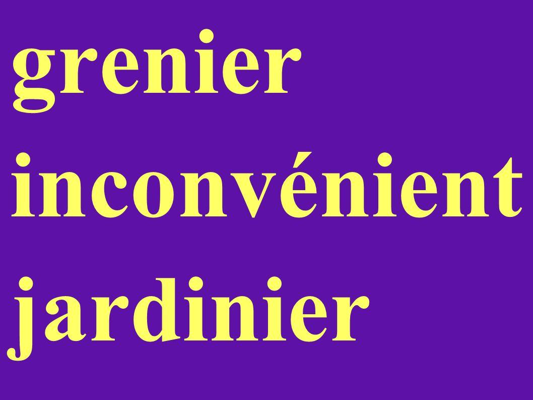 grenier inconvénient jardinier