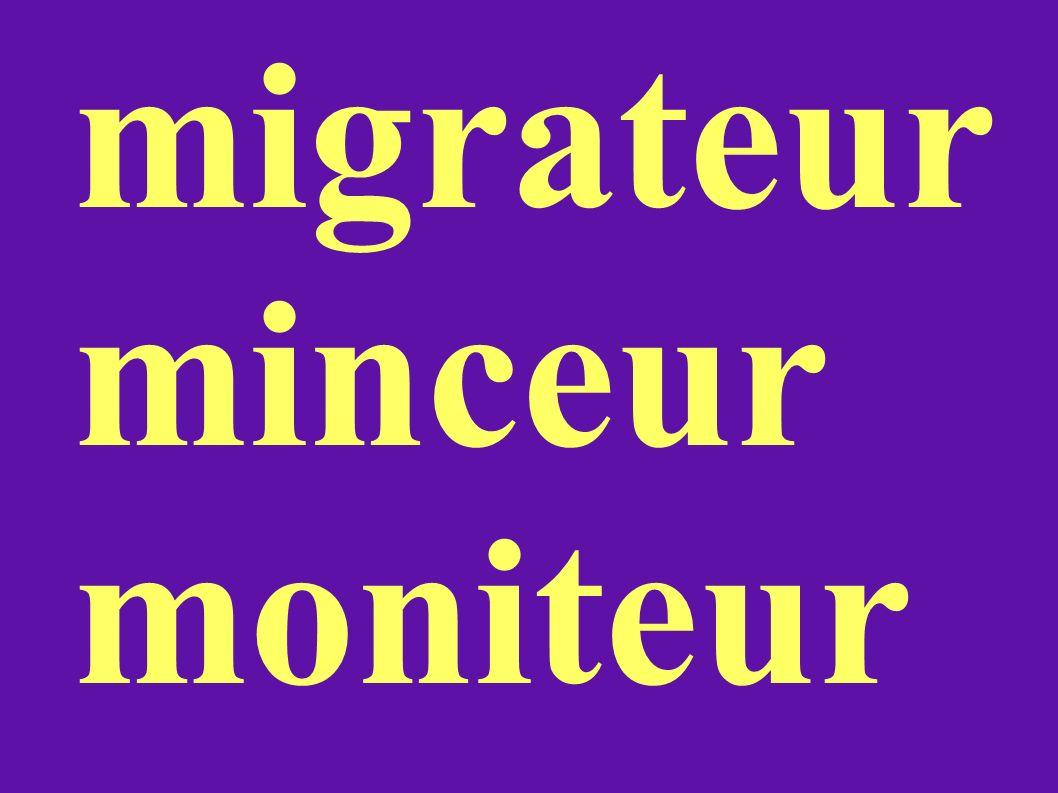 migrateur minceur moniteur