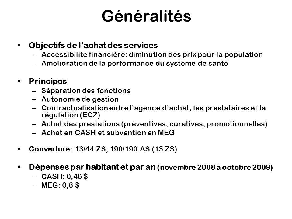 Généralités Objectifs de lachat des services –Accessibilité financière: diminution des prix pour la population –Amélioration de la performance du syst