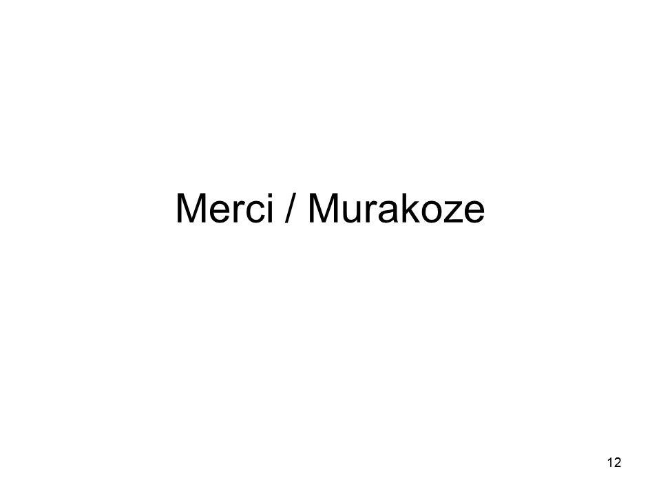 12 Merci / Murakoze