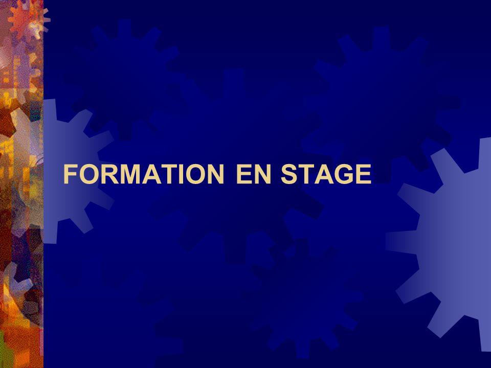 FORMATION EN STAGE