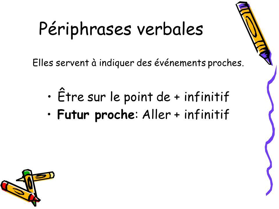 Futur Verbes en –ER et –IR: Ajouter les terminaisons du futur à l infinitif du verbe.