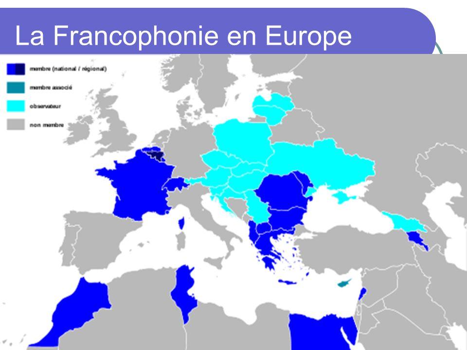 La Francophonie en Europe