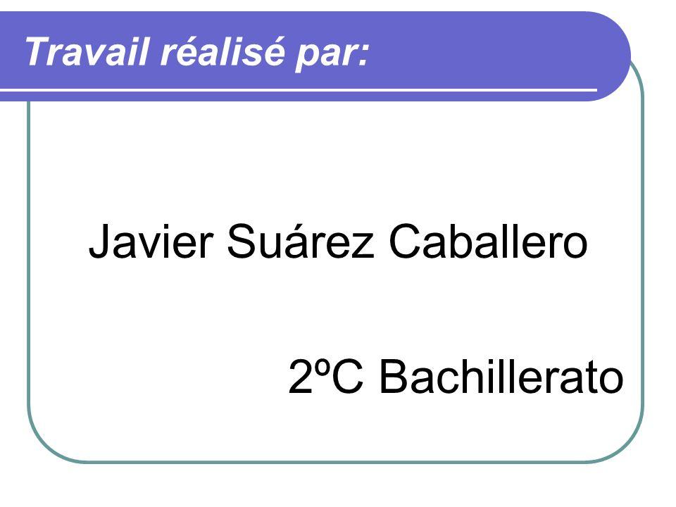 Travail réalisé par: Javier Suárez Caballero 2ºC Bachillerato