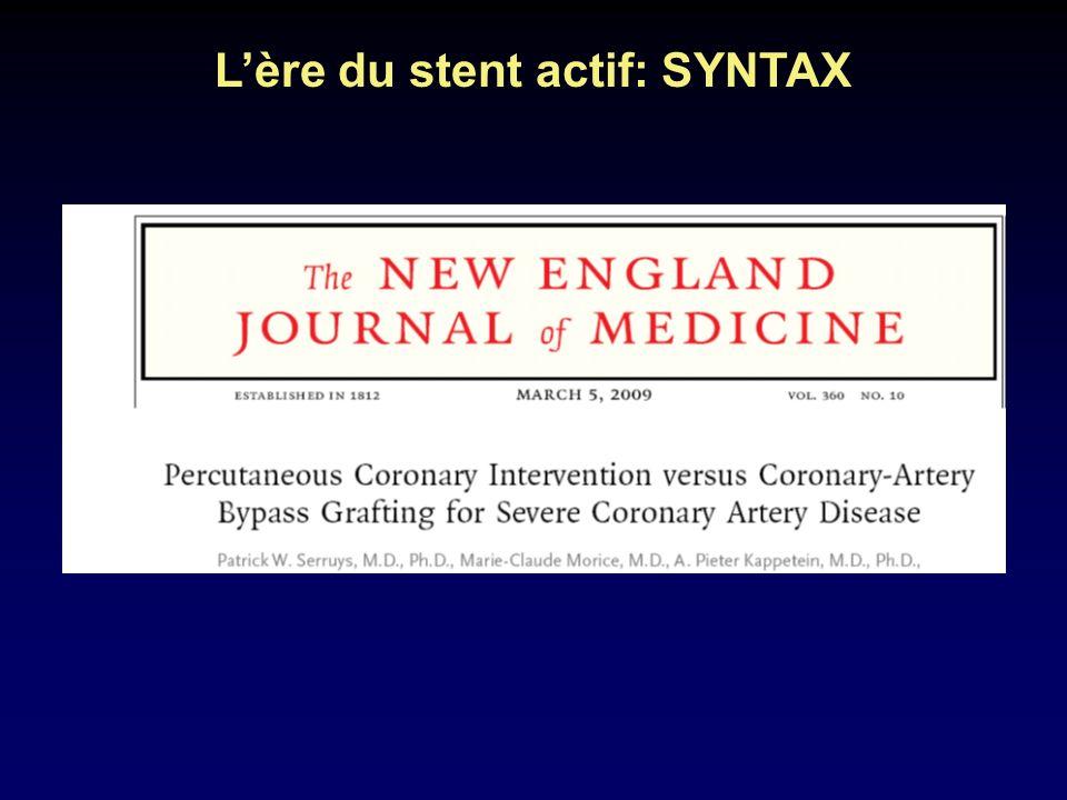 Lère du stent actif: SYNTAX