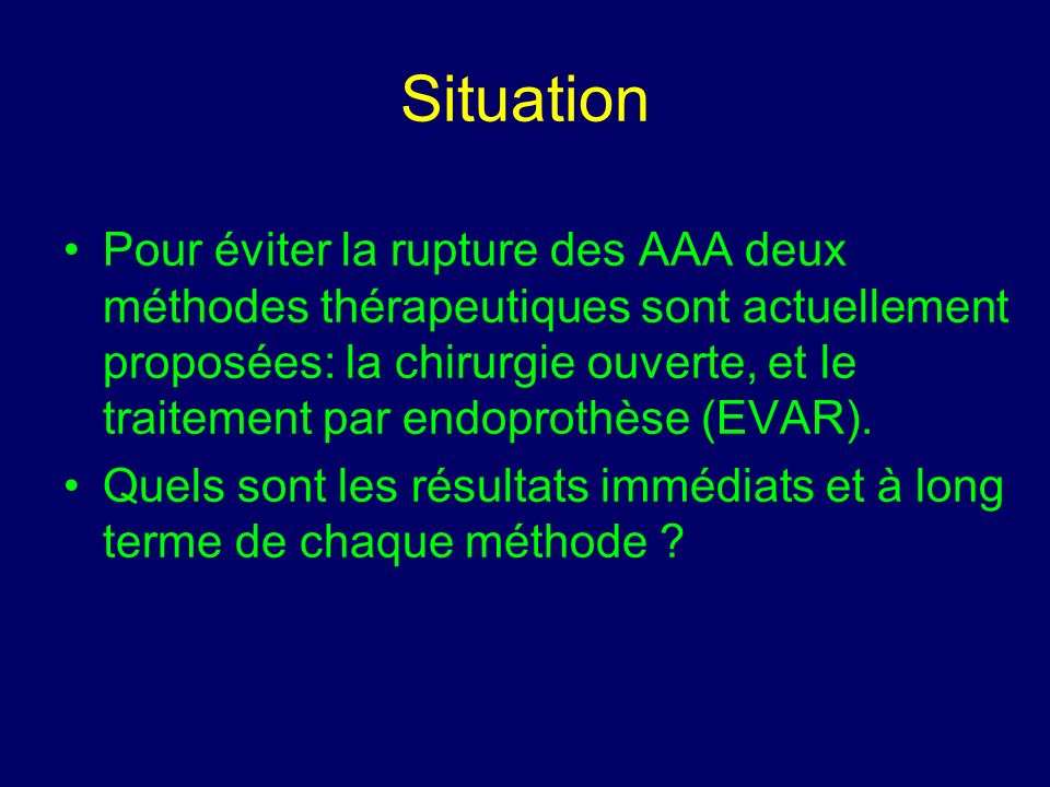 Complications péri-op J Vasc Surg.2004 Mar;39(3):497-505.
