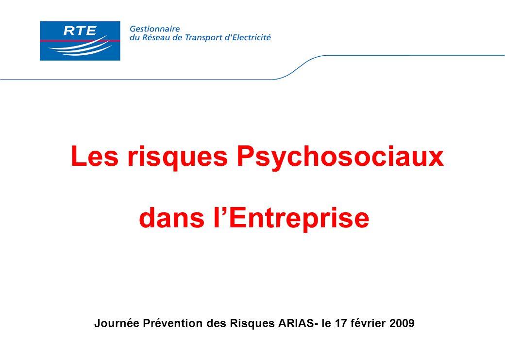 Les risques Psychosociaux dans lEntreprise Journée Prévention des Risques ARIAS- le 17 février 2009