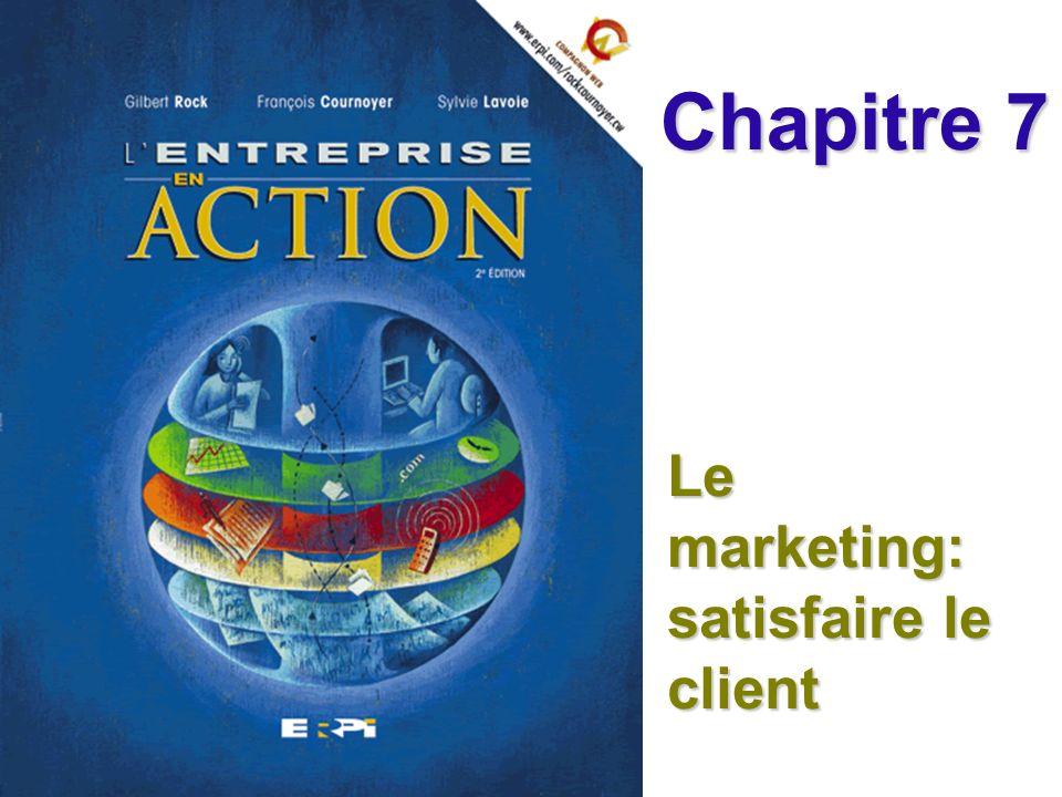 Le marketing: satisfaire le client Chapitre 7