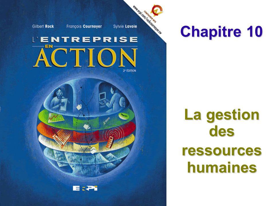 La gestion des ressources humaines Chapitre 10