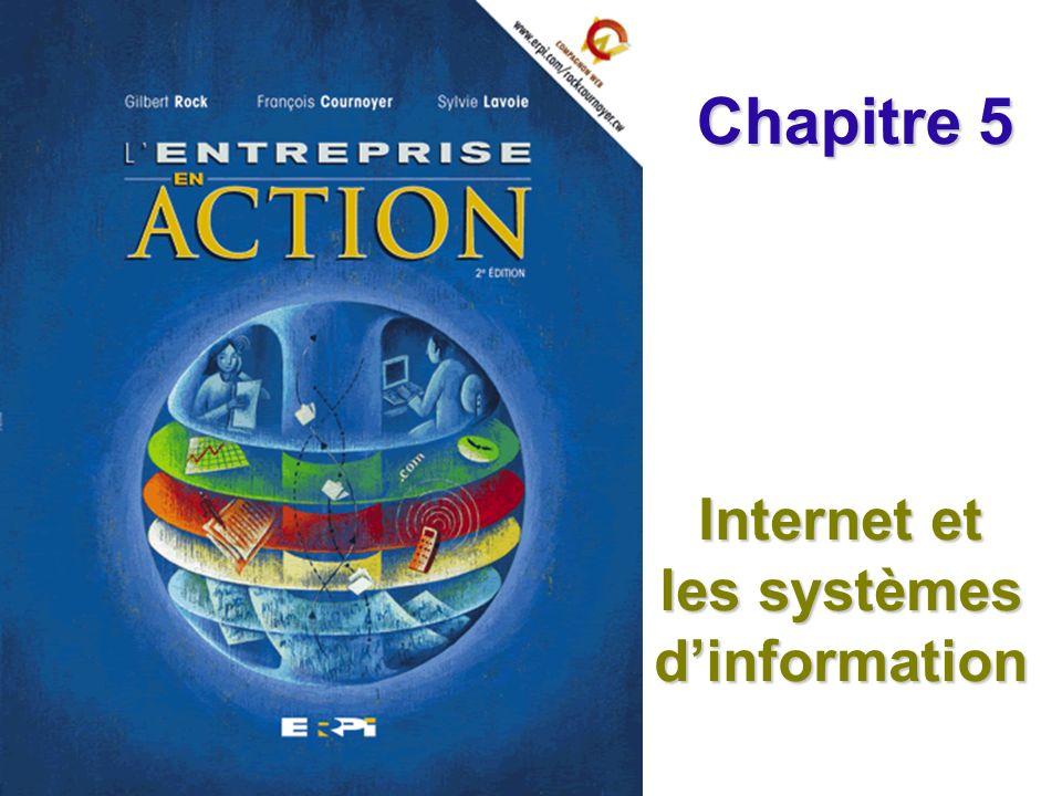 Chapitre 5 Internet et les systèmes dinformation Diapositive 22 © ERPI Lentreprise en action, 2e édition.