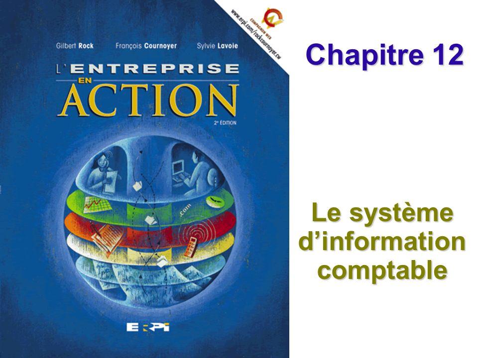 Chapitre 12 Le système dinformation comptable Diapositive 12© ERPI – Lentreprise en action, 2e édition.