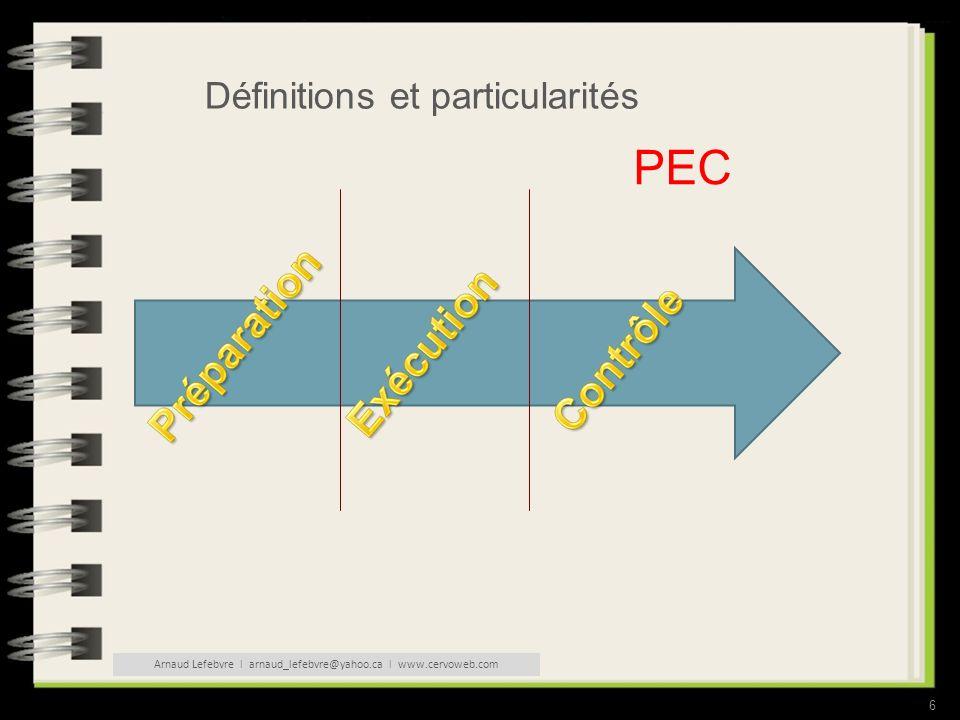 6 Définitions et particularités PEC Arnaud Lefebvre l arnaud_lefebvre@yahoo.ca l www.cervoweb.com