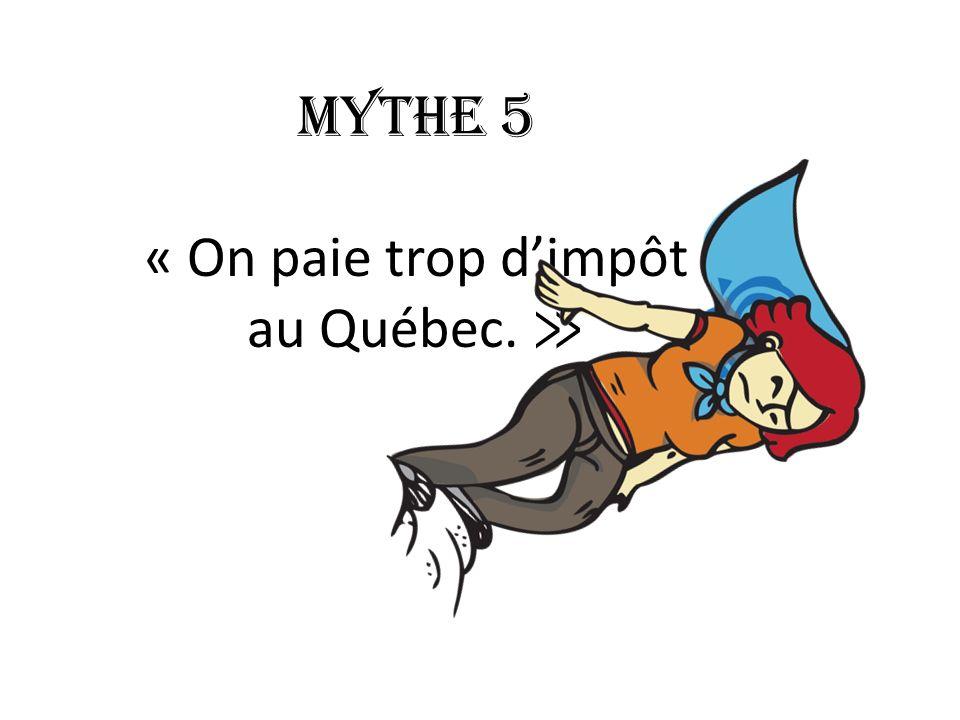 Mythe 5 « On paie trop dimpôt au Québec.
