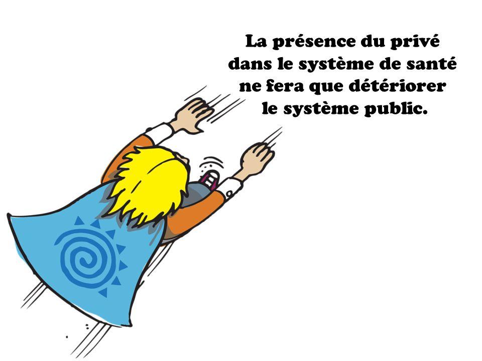 La présence du privé dans le système de santé ne fera que détériorer le système public.