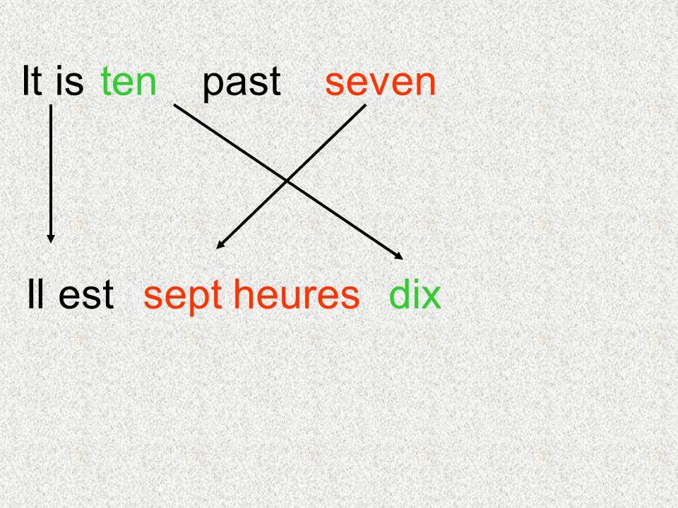 It is dix seventenpast Il estsept heures