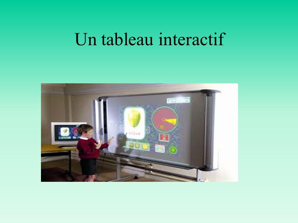 Un tableau interactif