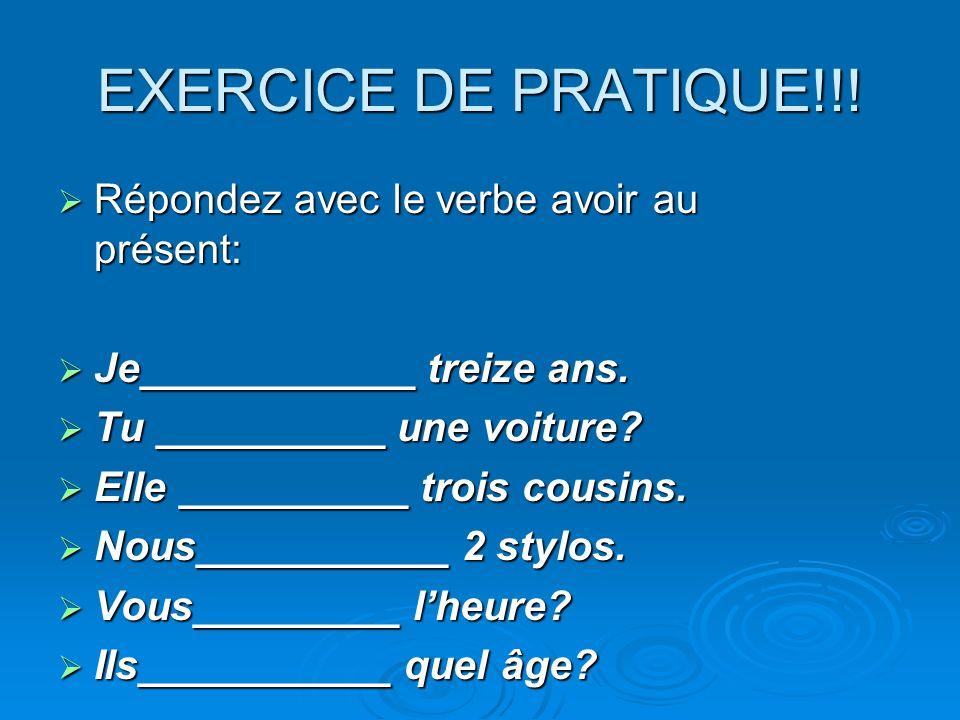 EXERCICE DE PRATIQUE!!.