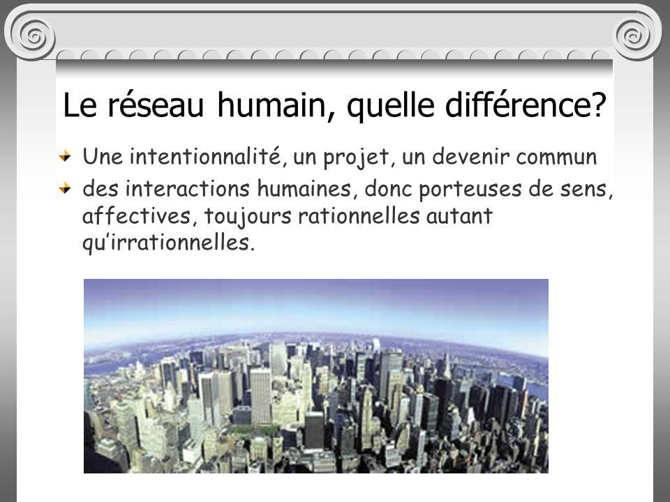 Le réseau humain, quelle différence.