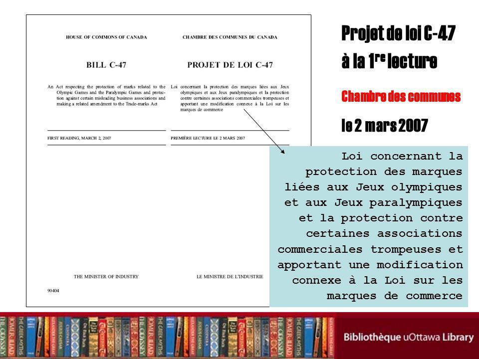 Loi concernant la protection des marques liées aux Jeux olympiques et aux Jeux paralympiques et la protection contre certaines associations commercial