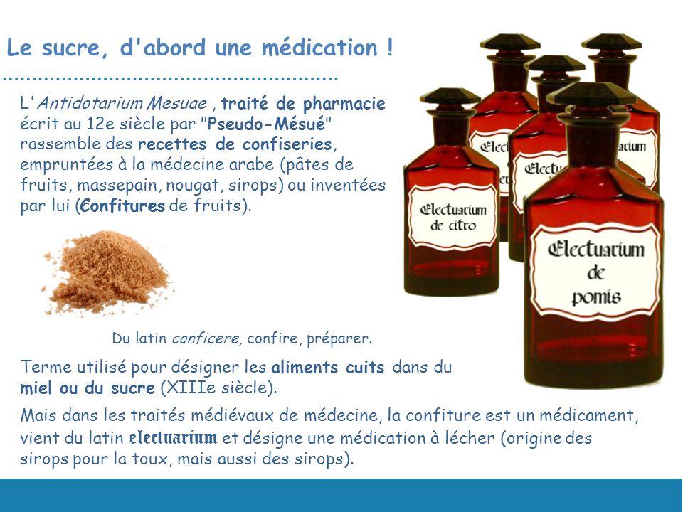 Le sucre, d'abord une médication ! L'Antidotarium Mesuae, traité de pharmacie écrit au 12e siècle par