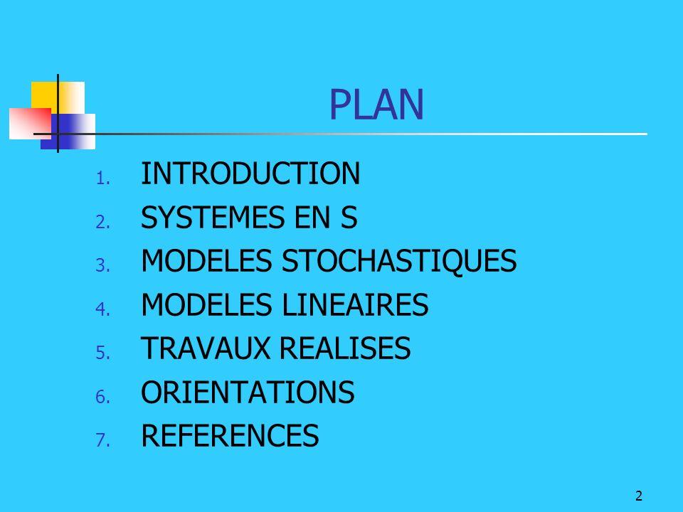 13 5.TRAVAUX REALISES Etude des systèmes en S ( avec des exemples) Etude des modèles stochastiques ( implém.