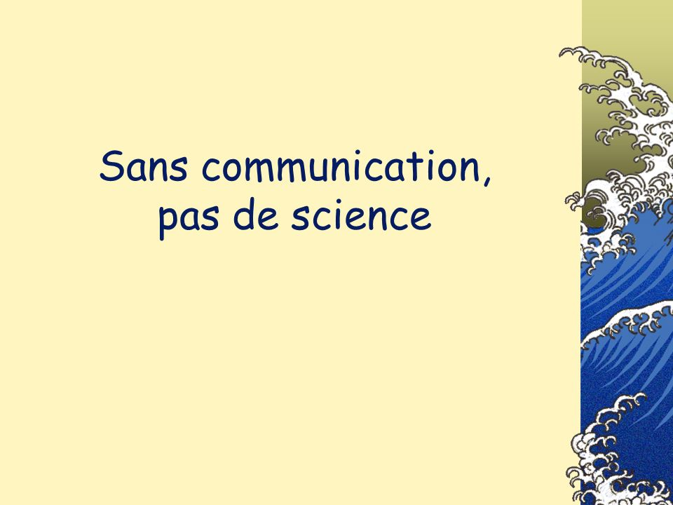 De lordre IMRAD… …ou le Secret de lordre des publications…