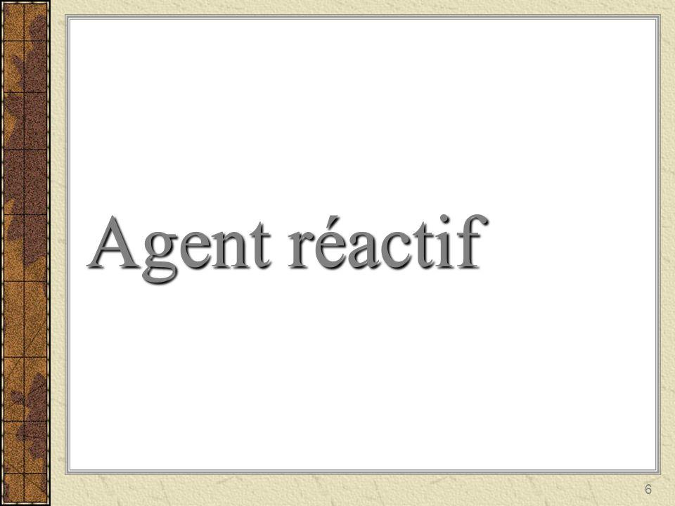 6 Agent réactif