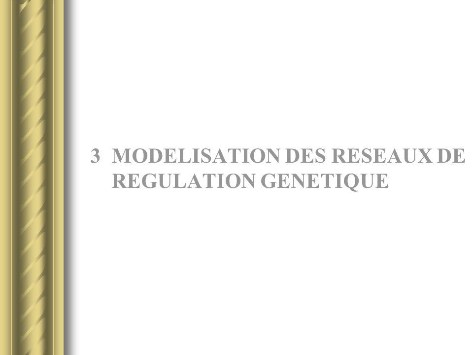 3 MODELISATION DES RESEAUX DE REGULATION GENETIQUE
