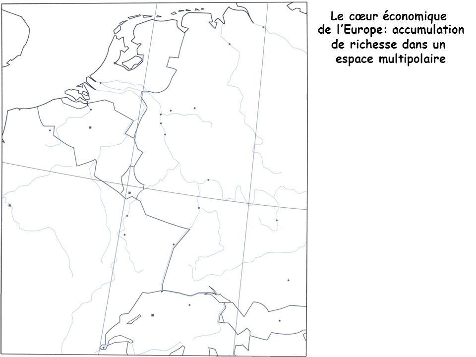 Le cœur économique de lEurope: accumulation de richesse dans un espace multipolaire
