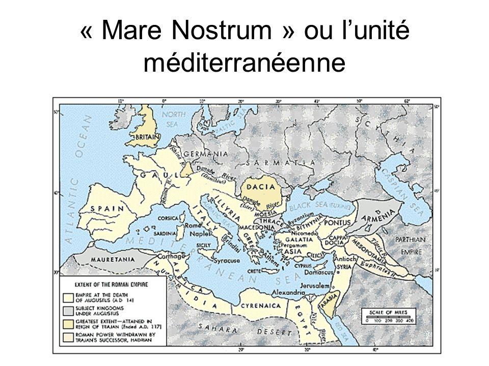 « Mare Nostrum » ou lunité méditerranéenne
